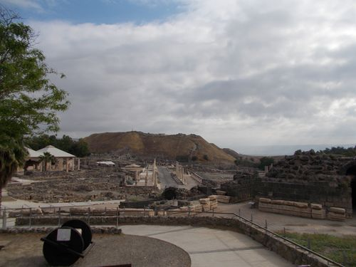 Beit Shean with the Tel in the background